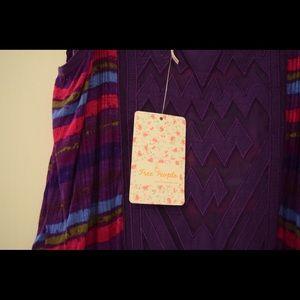 FREE PEOPLE purple top
